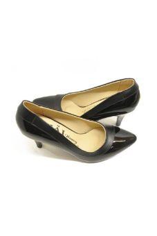 Giày da thời trang gót 7p 702D
