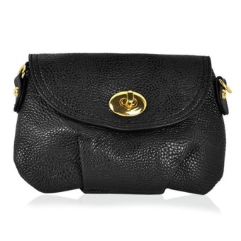 Leather Cross Body HandBag (Black)