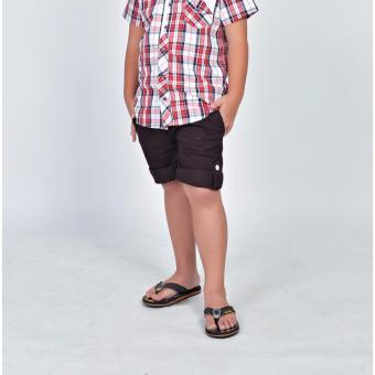 Quần Kaki lửng lớn bé trai Somy Kids 9-12T (nâu sậm)