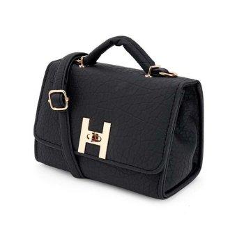Túi xách tay dây đeo da sần khóa kim loại TX6868-02-100 (Đen)