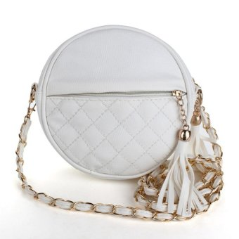 Moonar Mini Lady Fashion Shoulder Handbag Leather Sling Chain Bag With Tassels (White) - intl