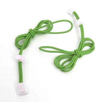 Elastic Locking Shoelaces Shoe Laces Trainer Running/Jogging/Triathlon/Sporting green - Intl