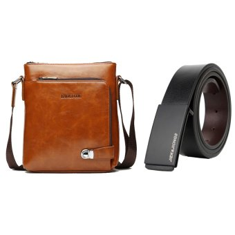 Bộ túi đeo chéo và thắt lưng da nam DTCB15