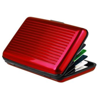 Moonar ID Credit Card Case Antimagnetic Waterproof Aluminum Card Holder (Red) - intl