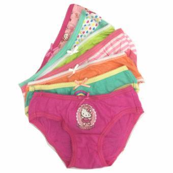 Bộ 7 quần lót - quần chíp bé gái cotton Thái Lan-MS01
