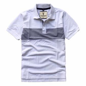 Áo thun nam cổ bẻ phong cách mới AT055 màu trắng
