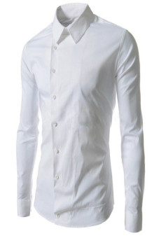 Reverieuomo CS21 Single-Breasted Shirt White - Intl