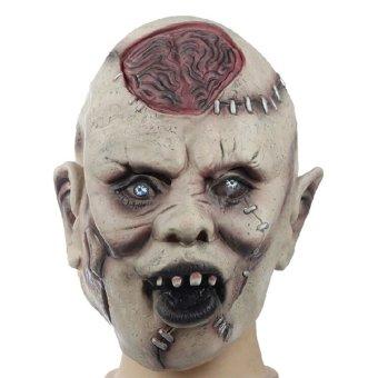 New Skeleton Head Overhead Latex Rubber Costume Mask Horror Headgea Halloween - Intl