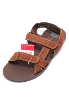 Giày xăng đan da bò cho nam Giày Đại Việt DMD318 (Nâu)
