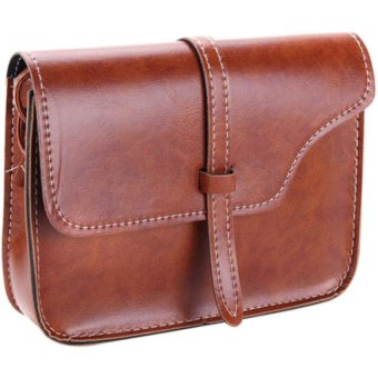 Bluelans Women Faux Leather Messenger Shoulder Bag Satchel Tote Handbag (Light Brown) (Intl)