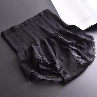 Bộ 2 quần lót gen bụng Nhật định hình (đen, ghi)