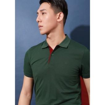 Áo Polo xanh lá đậm