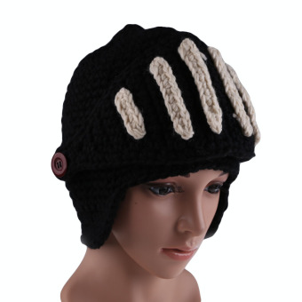 Unisex Winter Knitting Wool Cap Warm Beanie Crochet Ski Roman Knight Hat (Intl)