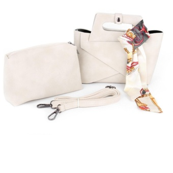 Womens Shoulder Bags Top-Handle Handbag Tote Purse Bag Set of 2 - intl