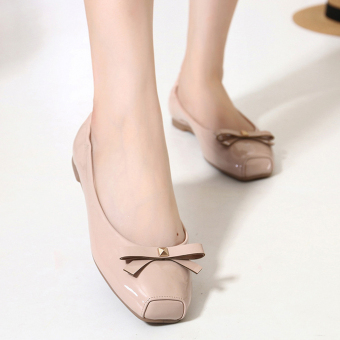 Women's Super Soft Shoes With Bowknot Design(Apricot) - intl