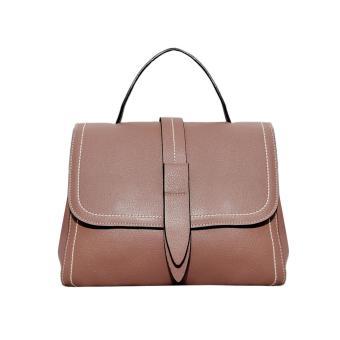 Túi xách nữ da bò thật màu nâu hồng cao cấp