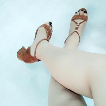 Giày sandal gót vuông Mattino ( Be )