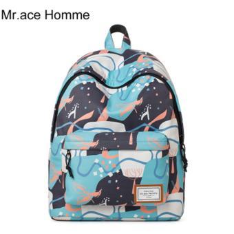 Balo Thời Trang Mr.ace Homme MR17A0466B01 / Xanh phối họa tiết