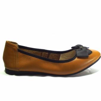 Giày búp bê da thật màu da bò