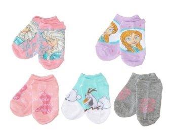 Bộ 5 đôi tất (vớ) bé gái Disney Frozen Girls 5 pack No Show Socks (Mỹ)