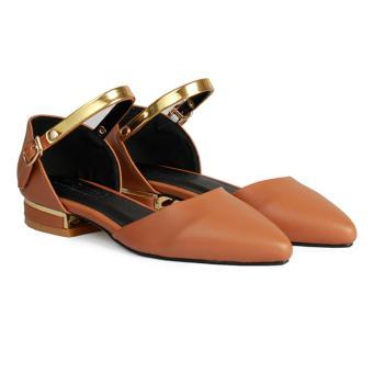Giày Bệt Nữ Mũi Nhọn Quai Cổ Chân HC1319 (Bò)