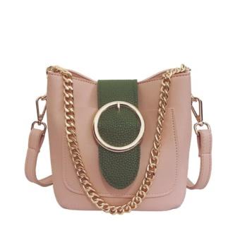 Túi đeo chéo gam màu pastel siêu xinh - T1414H ( màu hồng )
