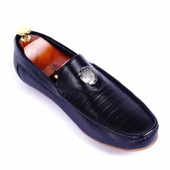 Giày lười nam da thật cao cấp Da Giày Việt Nam - VNLLT76-11LA78D-2 (Đen)