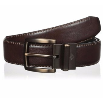 Thắt lưng (nịt) da thật 2 mặt nam Columbia Men's 35 mm Hamlock Grove Reversible Belt (Đen/Nâu) (Mỹ)