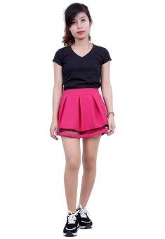 Quần Shorts Giả Chân Váy Nữ Phối Ren Chun SoYoung WM SHORTS 008C HP
