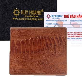 HL2401 - Bóp nam Huy Hoàng da đà điểu màu vàng