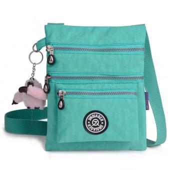 Waterproof Nylon Handbag Shoulder Diagonal Bag Messenger Green - Intl