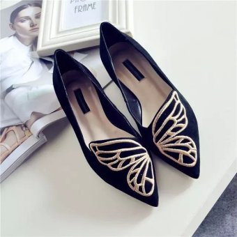 HOT Womens Boat Shoes Casual Ballet Slip On Flats Loafers Butterfly Single Shoes,, - intl