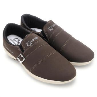 Giày thể thao nam Huy Hoàng màu nâu đất-HH7603