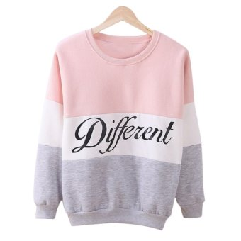 Fancyqube Hoody Women Clothing Casual Pullovers Long Sleeve Pink Grey