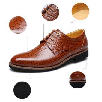 giày cá sấu nam cao cấp - Pettino GD10 (nâu)