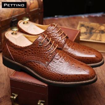 Mua giày cá sấu nam cao cấp - Pettino GD10 (nâu) giá tốt nhất