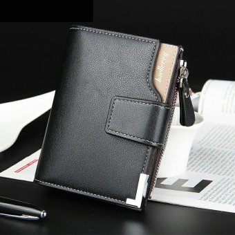 Short Wallet PU Leather Brand Men Wallets Dollar Price Bifold Wallet Men Card Holder Coin Purse Pockets with Zipper - intl