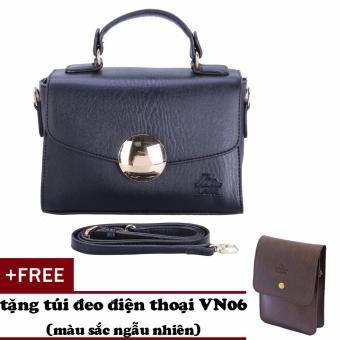 Túi đeo chéo nữ đa năng LATA HN33 (Đen)+ Tặng ví Vn06