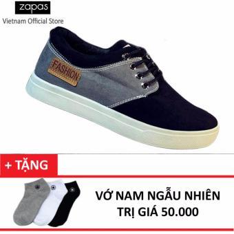 Giày Sneaker Thời Trang Nam Zapas – GS050 ( Đen ) + Tặng Vớ Nam Ngẫu Nhiên