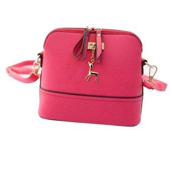 New Women Messenger Bags Vintage Small Shell Leather Handbag Casual Bag - intl