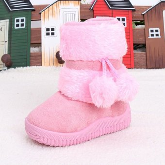 BEINGQ Baby Kid Girls Toddler Boots Warm Shoes Fur Boots Zipper Up - intl