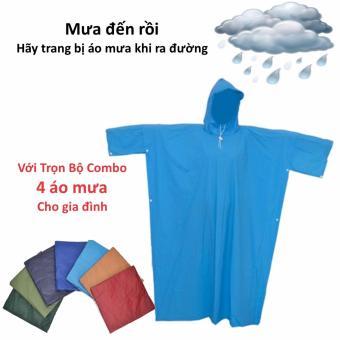Trọn bộ combo 4 áo mưa dành cho cả gia đình