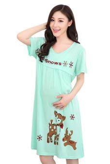Váy bầu Family Shop VB25 (Xanh)