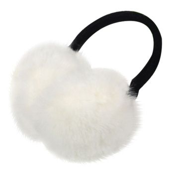 Unisex Women Men Faux Fox Fur Winter Warm Earmuff Earlap Winter Ear Muffs Warmer Muff White - intl