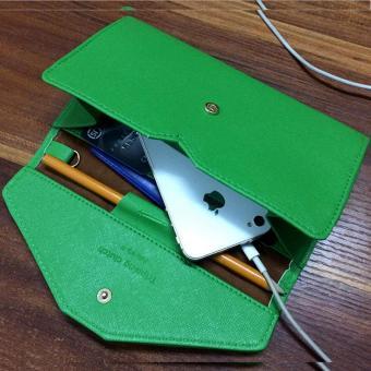 Ví cầm tay da cao cấp thiết kế giản dị thông minh nhiều chức năng -163(Đen)