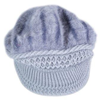 Soft Warm Beanie Bluetooth Music Hat Cap for Women Grey (Intl)