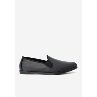 Giày slip on Flossy M Blas Leather Slip On (Đen)