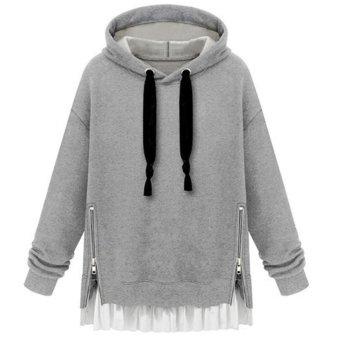 Women Long Sleeve Hoodie Sweatshirt Sweater Casual Hooded Coat Pullover M - intl