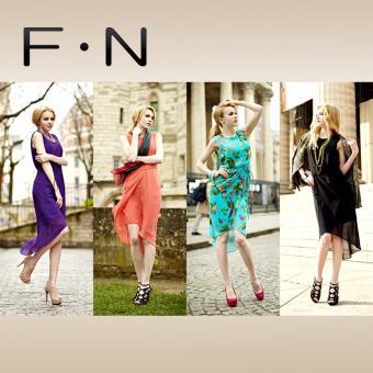Bộ áo đầm nữ kiểu mullet F.N (màu ngẫu nhiên)