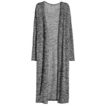Stylish Collarless Long Sleeve Women's Cardigan - intl